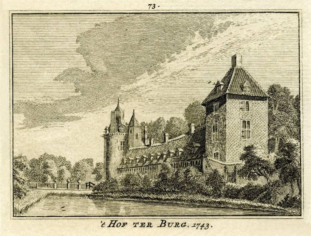 Kasteel Wisch in Terborg. Tekening Jan de Beijer, gravure Hendrik Spilman (Uit: Het Verheerlykt Nederland, Isaac Tirion, 1745/1774)